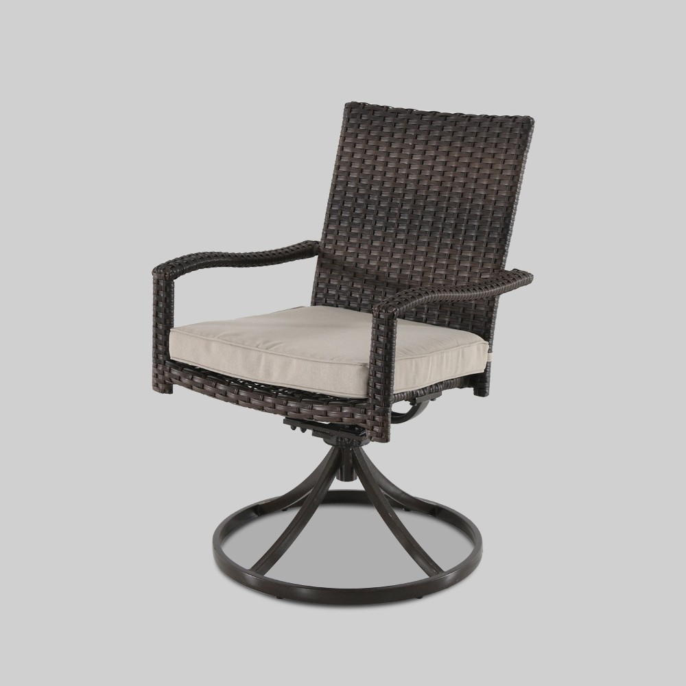 Halsted Swivel Rocker Patio Dining Chair Brown - Threshold was $229.99 now $114.99 (50.0% off)