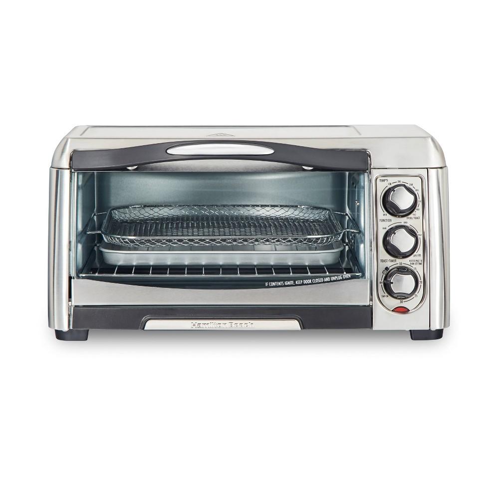 Image of Hamilton Beach Air Fry Sure-Crisp Toaster Oven, Silver