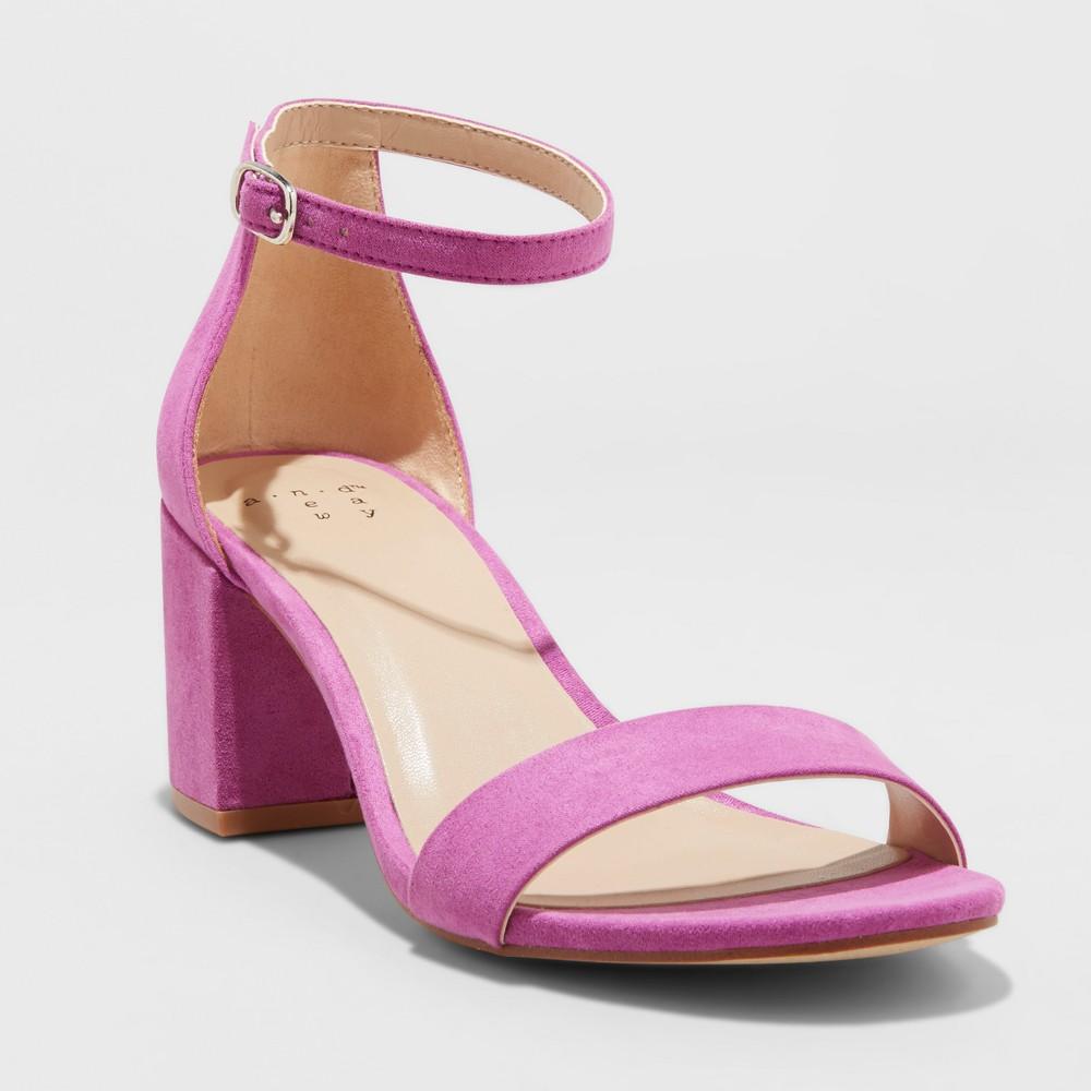 Women's Michaela Wide Width Block Heel Pumps - A New Day Orchid 11W, Size: 11 Wide
