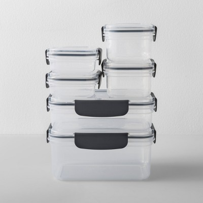 Rectangular Plastic Food Storage Container 12pc - Made By Design™
