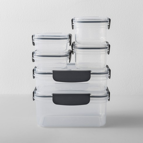 Rectangular Plastic Food Storage Container 12pc - Made By Design™ - image 1 of 4