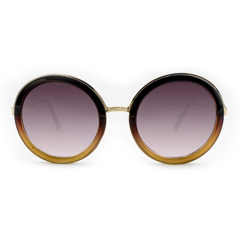 e1f5c5546 Women's Round Sunglasses With Ombre Frame - A New Day™ Brown : Target
