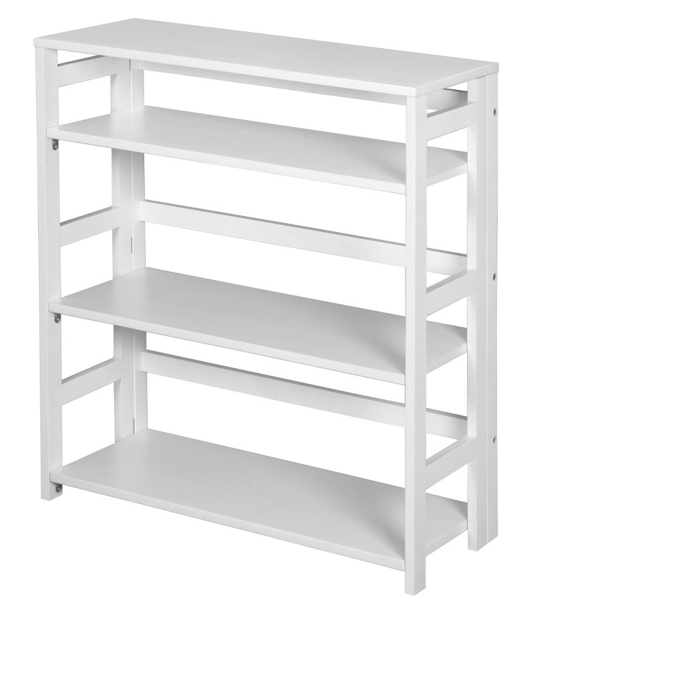 "Image of ""34"""" Flip Flop High Folding Bookcase White - Niche"""