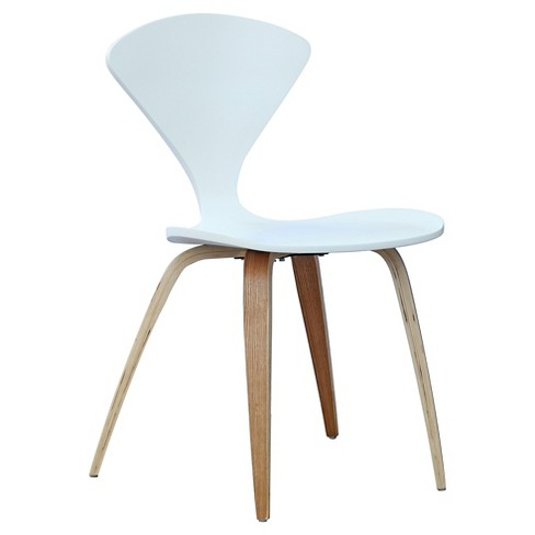Wooden Side Dining Chair - White - Fine Mod Imports - image 1 of 3