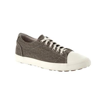 Men's SlipGrips Slip-Resistant Stonewash Canvas Work Shoes