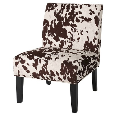 Kassi Cowhide Print Upholstered Accent Chair - Christopher Knight Home