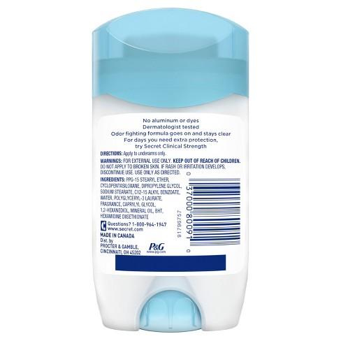 Secret Aluminum Free Rosewater Deodorant - 2 4oz