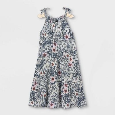 Girls' Tassel Strap Sleeveless Dress - art class™