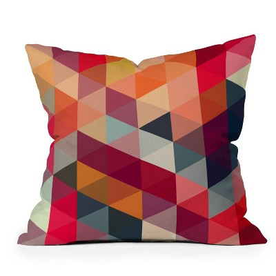 Three of the Possessed Modele Square Throw Pillow Red - Deny Designs