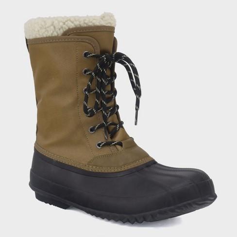 Men s Martin Duck Winter Boot - Goodfellow   Co™ Tan 11   Target c5aea57f1