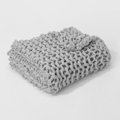 Hygge' Chunky Throw Blanket Gray - Threshold™