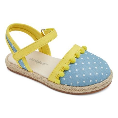 Toddler Girls' Vanette Two Piece Espadrille Sandals Cat & Jack™ - Blue 7 - image 1 of 3