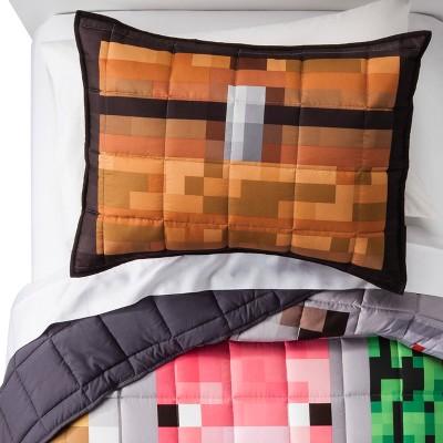 Minecraft® Gray Quilt (Full/Queen) 3pc