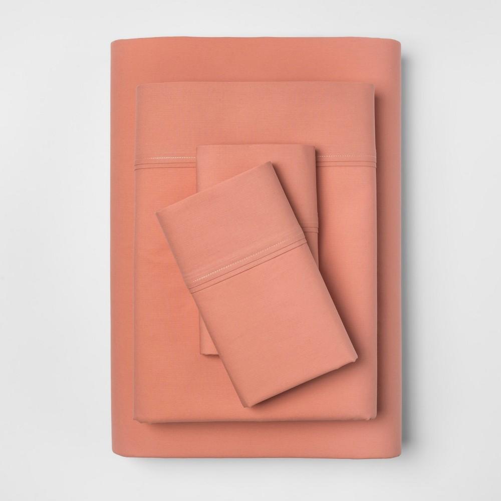 Organic Sheet Set (Twin) Honey Peach 300 Thread Count - Threshold