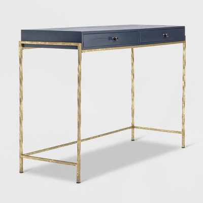 Jolie Modern Living Room Console Table Navy Blue/Gold - Adore Decor