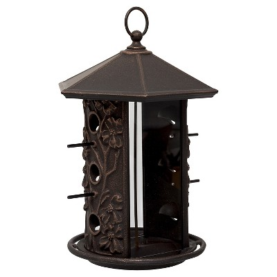 15.1  Aluminum Dogwood Birdfeeder - Oil Rubbed Bronze - Whitehall Products