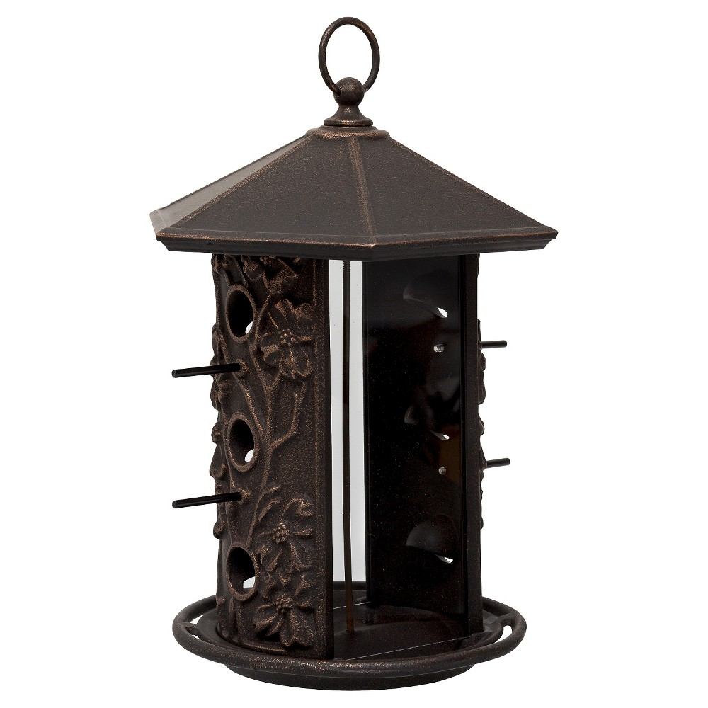 "Image of ""15.1"""" Aluminum Dogwood Birdfeeder - Oil Rubbed Bronze - Whitehall Products"""