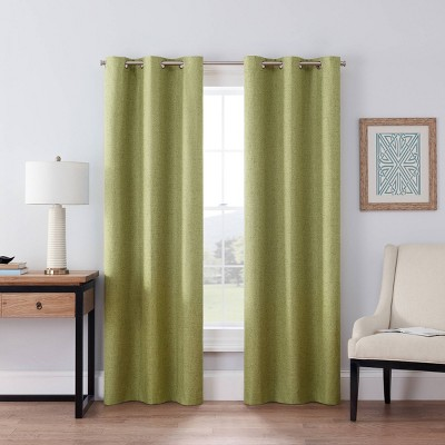 """63""""x42"""" Windsor Blackout Curtain Panel Green - Eclipse"""