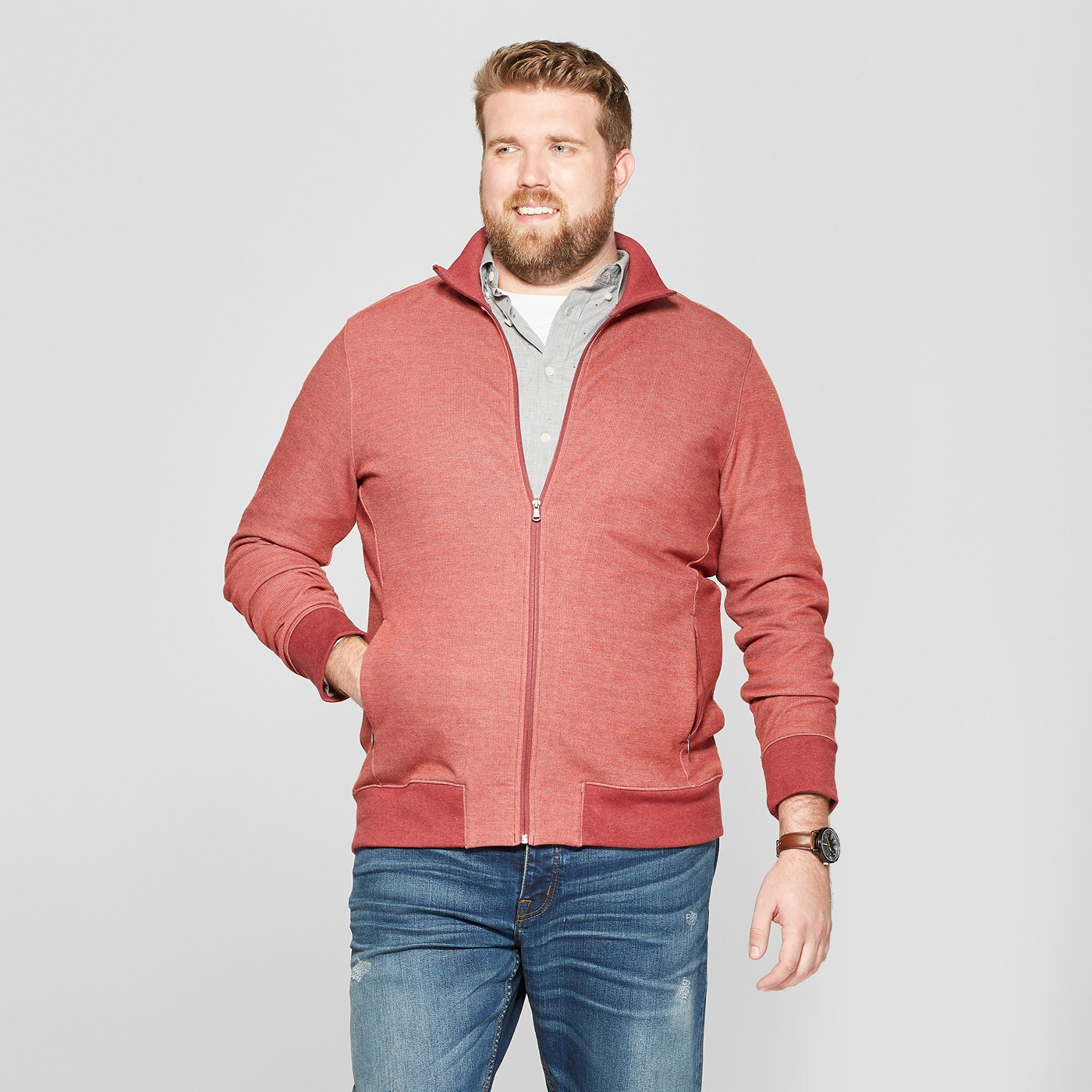 Goodfellow & Co Mens Big & Tall Regular Fit Track Jacket