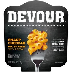 Devour White Cheddar Mac & Cheese With Frozen Bacon - 12oz : Target