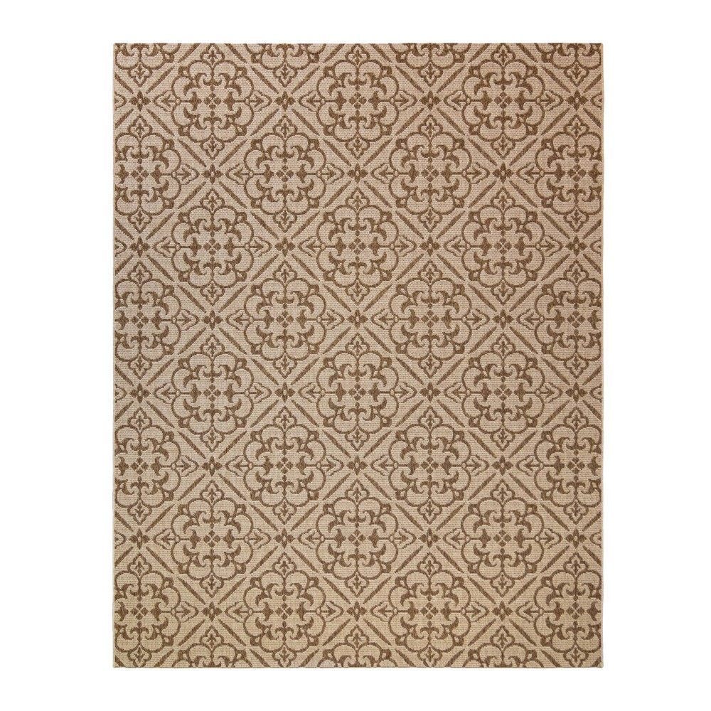 Image of 5'x7' Clifton Chestnut Outdoor Rug Brown - Studio by Brown Jordan