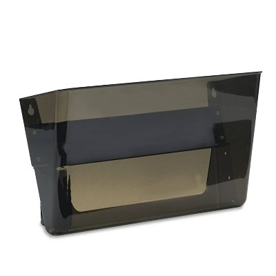 deflect-o Letter Size Magnetic Wall File Pocket - Gray