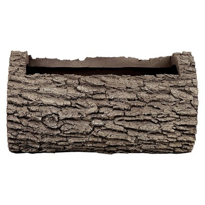 "10"" Oak Log Planter - Brown - Nature Innovations"