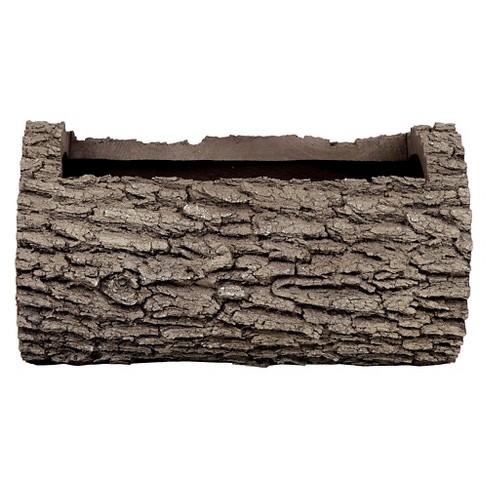 "10"" Oak Log Planter - Brown - Nature Innovations - image 1 of 2"