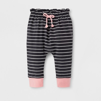 Baby Girls' Jogger Pants - Cat & Jack™ Charcoal 12M