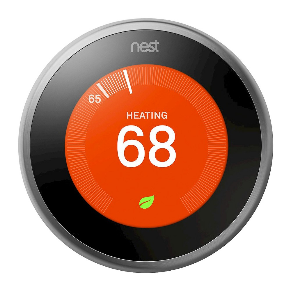Google Nest Learning Thermostat - Stainless Steel (Silver)
