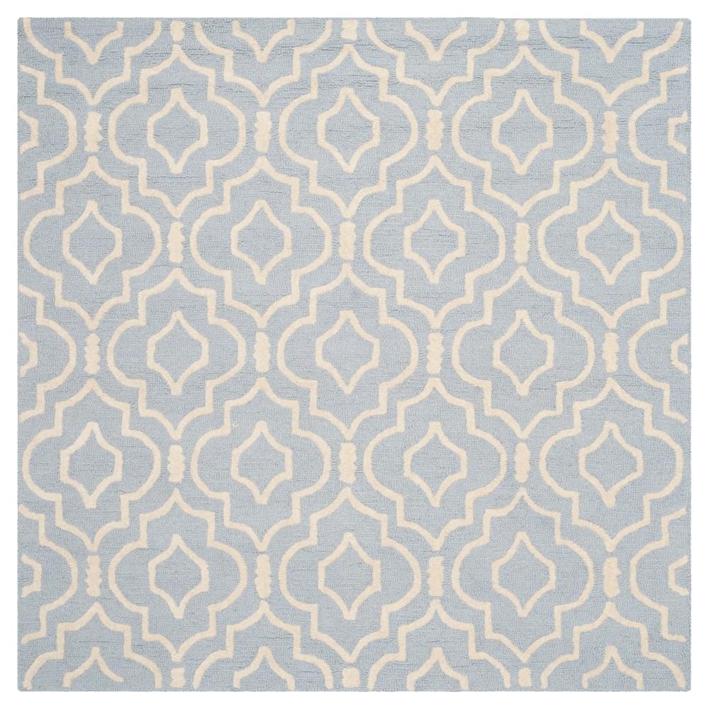 Tahla Area Rug - Light Blue / Ivory ( 8' X 8' ) - Safavieh, Light Blue/Ivory