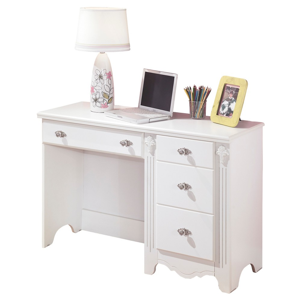 Image of Exquisite Bedroom Desk White - Signature Design by Ashley