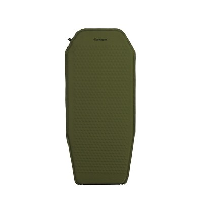 Snugpak Basecamp Ops Self Inflating Midi Mat, Air Mat with Non-Slip Bottom, Olive
