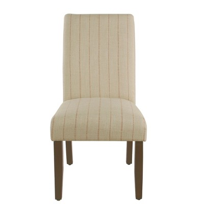 Rollback Dining Chair Cream with Red Stripe - HomePop