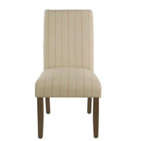 Rollback Dining Chair Cream with Red Stripe - HomePop - image 1 of 4