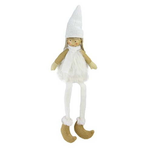 """Northlight 16"""" Sitting Girl with Hat, Scarf, and Dangling Legs Tabletop Decoration - image 1 of 4"""