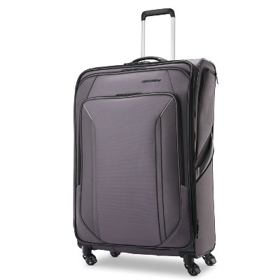 American Tourister 29'' Axion Checked Softside Suitcase - Black
