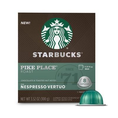 Starbucks for Nespresso Vertuo Pike Place Medium Roast Coffee - 3.52oz/8ct