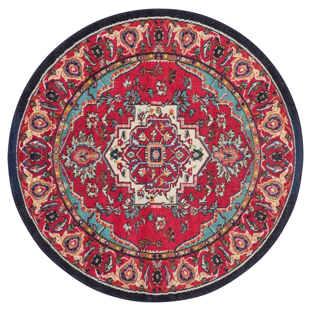 6'7 Jacquard Area Rug Red/Turquoise - Safavieh, Red/Turquiose