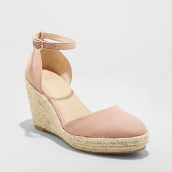 a4fdab53a5a Women's Macie Zip Front Espadrille Wedge - A New Day™ Cream 12 : Target