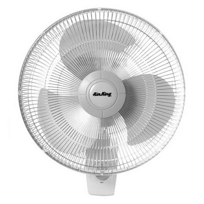 Air King 12-Inch 3-Speed 1/50 HP Commercial-Grade Oscillating Wall Fan, White