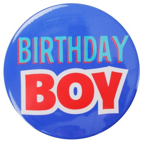 Birthday Boy Blue Button
