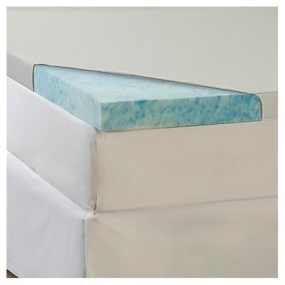 ComforPedic Loft from Beautyrest 4  GEL Memory Foam Topper with Waterproof Cover - Blue (Cal King)