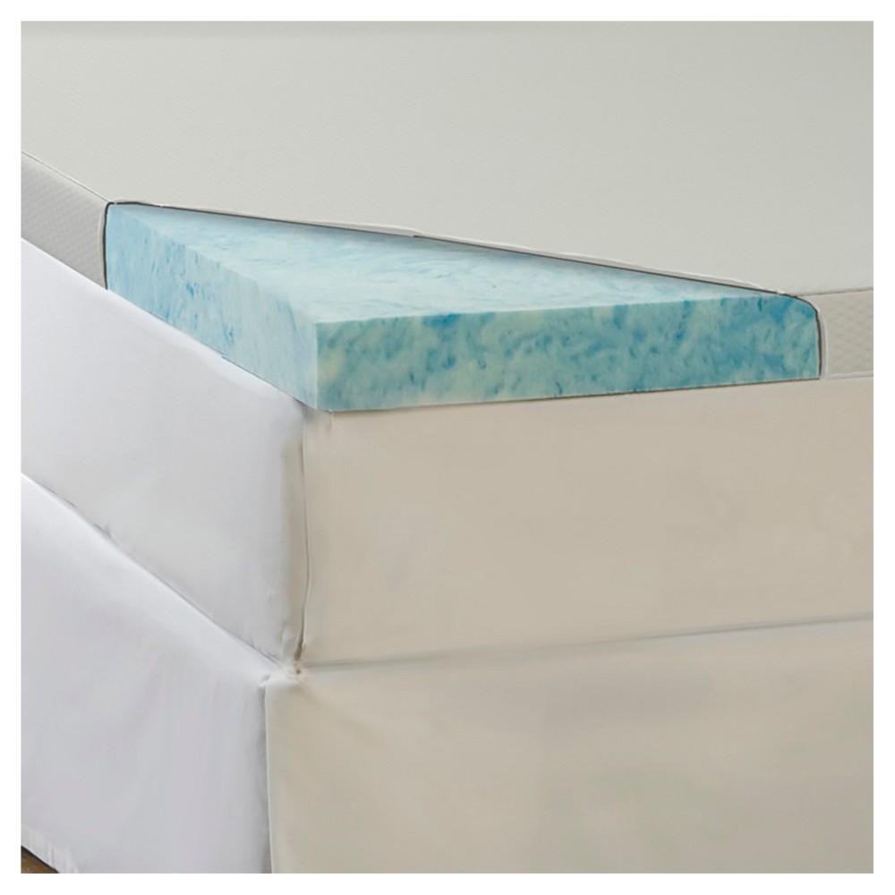 ComforPedic Loft from Beautyrest 4GEL Memory Foam Topper with Waterproof Cover - Blue (Twin)