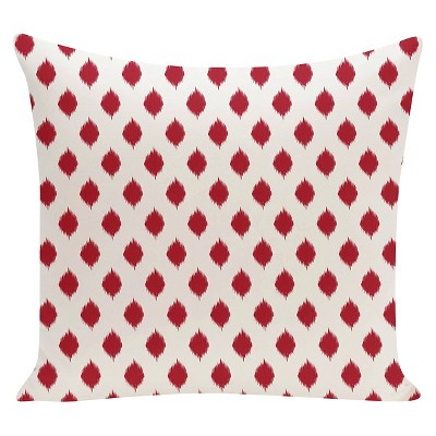 Red IKAT Geometric Print Throw Pillow Formula One (16 x16 )- E By Design