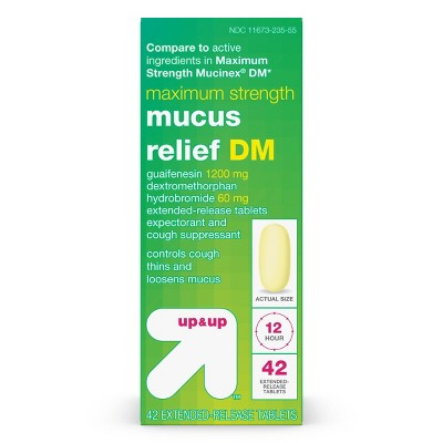 Maximum Strength Mucus Relief DM Tablets - up & up™