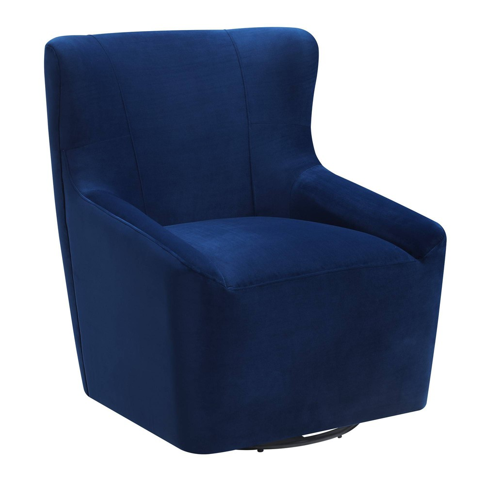 Misha Swivel Accent Chair Cobalt (Blue) - Picket House Furnishings