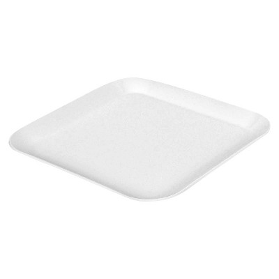 Square Dinner Plate White 10.5 x10.5  - Room Essentials™