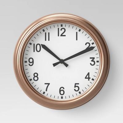 10  Round Wall Clock Copper - Threshold™