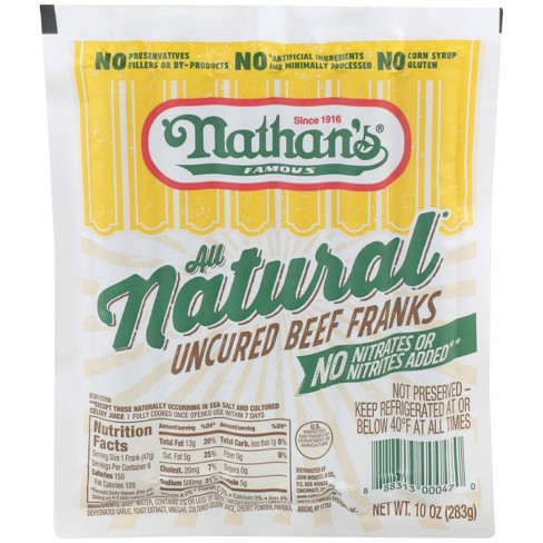 Nathan's Famous Natural Hot Dogs - 6ct/10oz - image 1 of 4